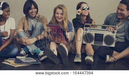 Friends Radio Boombox Sound Vintage Concept