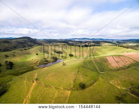 Aerial View of Farm - Brazilian Countryside