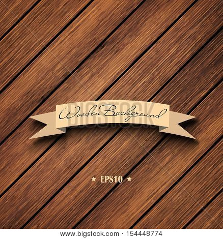 Wooden Brown Empty Template Background Vector Eps 10