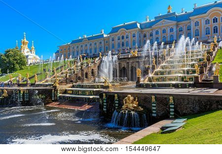 Peterhof Palace and Grand Cascade of fountains, Russian Federation