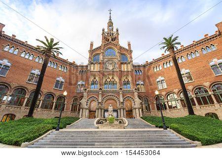 Hospital Of The Holy Cross And Saint Paul By A. Gaudi, Barcelona