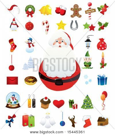 forty high quality christmas icons