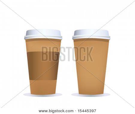 taza de café con ruta