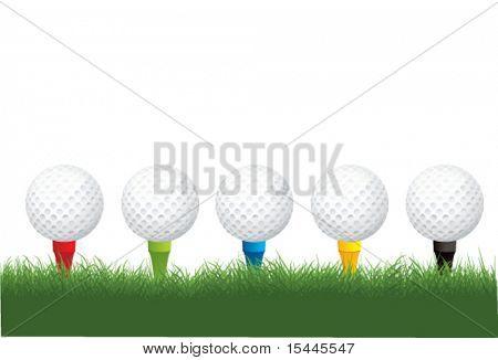 golf balls and tees