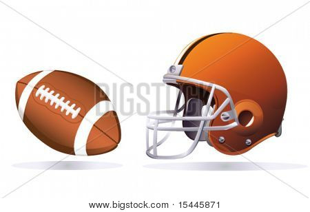 American Football und Helm