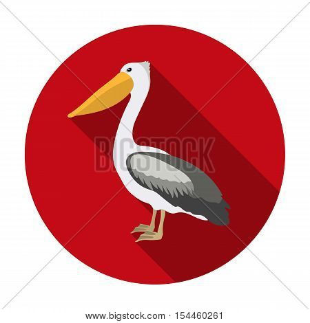 Pelican icon in flat style isolated on white background. Bird symbol vector illustration.