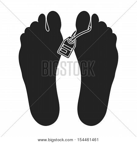 Corpse icon in black style isolated on white background. Drugs symbol vector illustration.