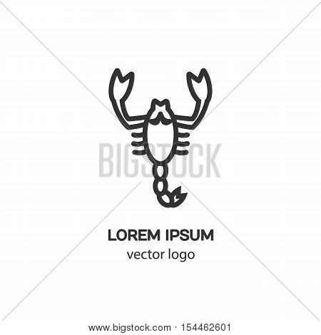 Vector logo design template for scorpio badge for websites and prints. Modern easy to edit logo template.