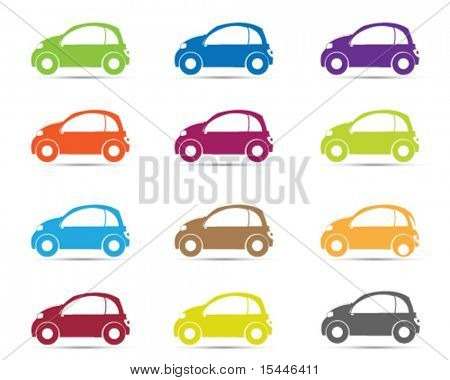 car silhouette in different color