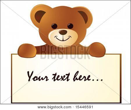oso de peluche con vacío cartelera