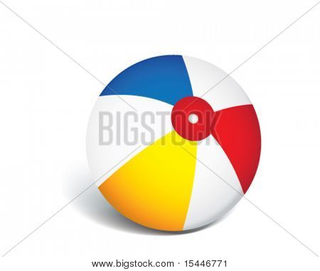 vector beach ball illustration