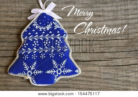 Christmas decoration on old wooden background.Merry Christmas, Winter Holidays card.Soft focus,copy space.