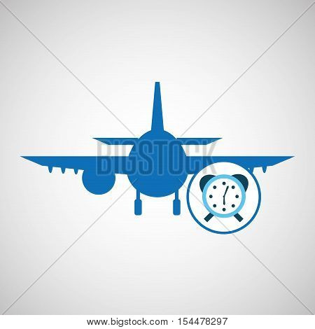 travel concept. service alarm hotel. silhouette blue plane. design, vector illustration  graphic
