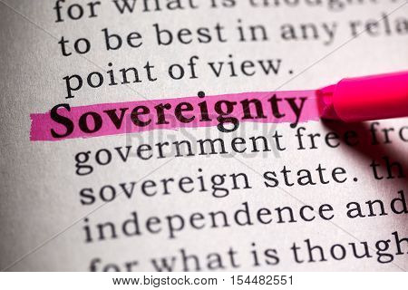 Fake Dictionary Dictionary definition of the word sovereignty .