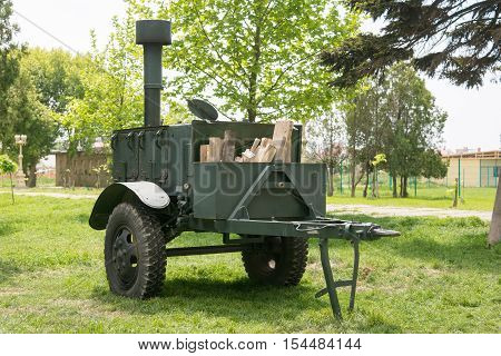 Vityazevo, Russia - May 16, 2016: Army Field Kitchen Kp-125