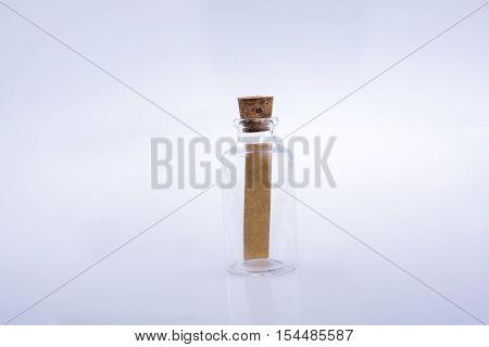 Little Empty Glass Bottle In Hand