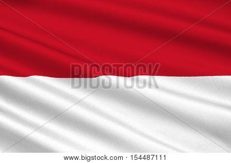 Flag of Irian Jaya (Indonesia) - Papua and West Papua. 3d illustration