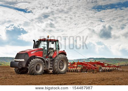 Karlovo, Bulgaria - Octomber 21, 2016: Case IH Puma 1260 agricultural tractor on display. Case IH wins two gold medals at AGROTECH - the 20th International Fair of Agricultural Techniques.