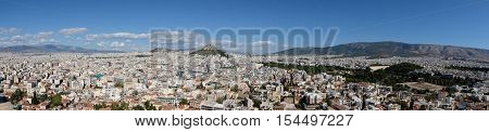 a panoramic view of the city of Athens inGreece