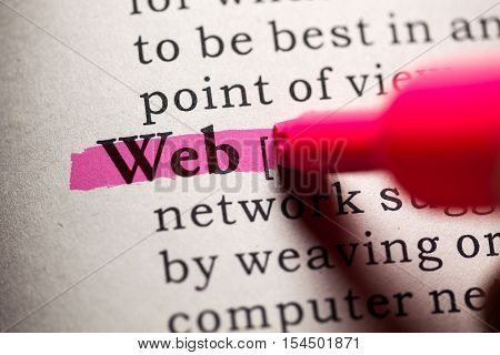 Fake Dictionary Dictionary definition of the word web.