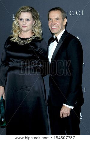 LOS ANGELES - OCT 29:  Justine Wheeler Koons, Jeff Koons at the 2016 LACMA Art + Film Gala at Los Angeels Country Museum of Art on October 29, 2016 in Los Angeles, CA