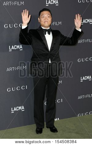 LOS ANGELES - OCT 29:  Park Jae-sang, PSY at the 2016 LACMA Art + Film Gala at Los Angeels Country Museum of Art on October 29, 2016 in Los Angeles, CA