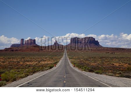 The famous Highway 163 in Utah, USA