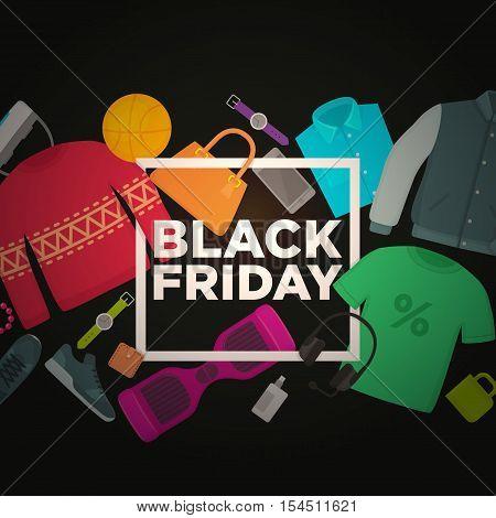 Black Friday. Web banner. Vector Banner theme Black Friday