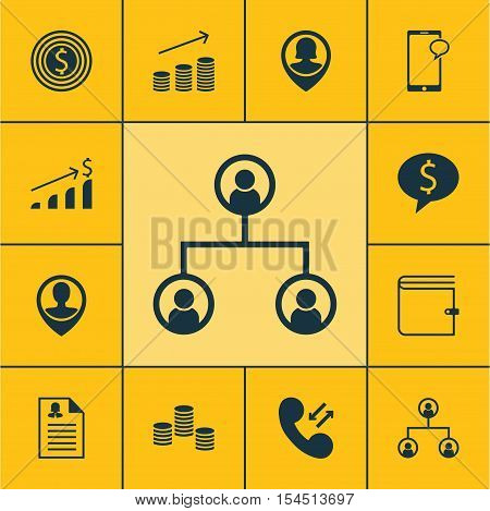 Set Of Human Resources Icons On Coins Growth, Successful Investment And Female Application Topics. E