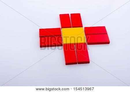 Domino Blocks Of Various Color