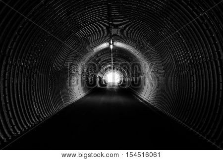 Long Dark Tunnel, Circle Form. Light At The End.