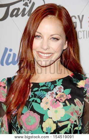 Amy Paffrath arrives at the