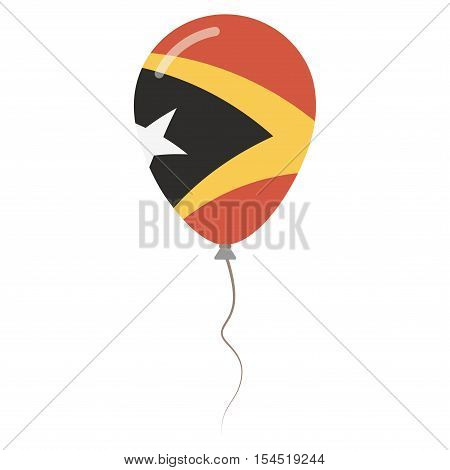 Democratic Republic Of Timor-leste National Colors Isolated Balloon On White Background. Independenc