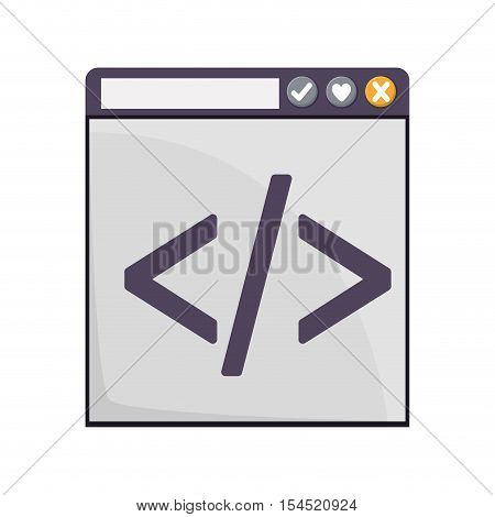 web coding icon over white background. vector illustration