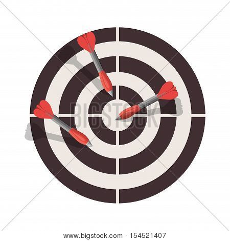 round target with arrow. strategy and success design. vector illustration
