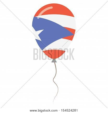 Commonwealth Of Puerto Rico National Colors Isolated Balloon On White Background. Independence Day P