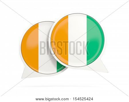 Flag Of Cote D Ivoire, Round Chat Icon