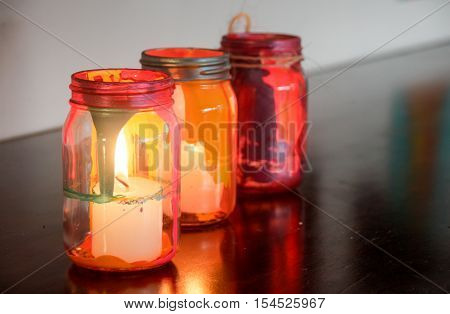 Colorful Glass Lamps