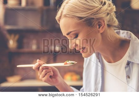 Beautiful Girl Cooking