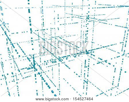 Vector 3d structure. Technology abstract background.