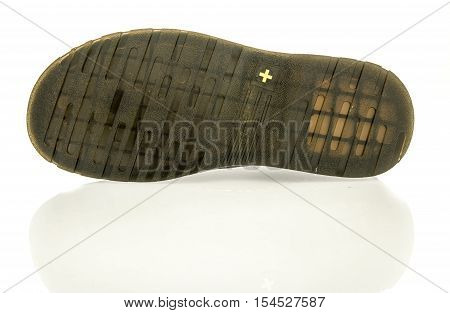 Winneconne WI - 2 November 2016: Dr. Martens shoe sole on an isolated background.
