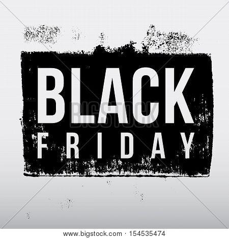 Black Friday sale grunge rubber stamp on white background