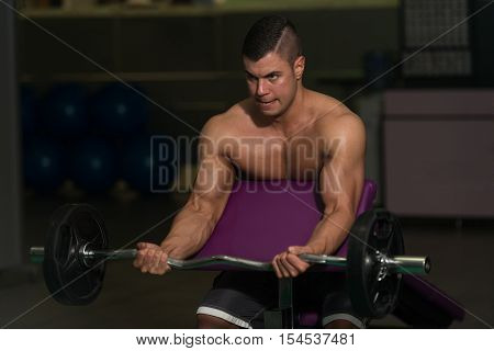 Biceps Exercise With Barbell