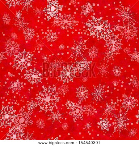 Wrapping Christmas vintage paper background with snowflake seamless pattern subtle grunge texture