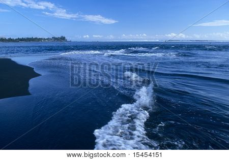 Low Tide On Etang Salé Beach, La Reunion Island