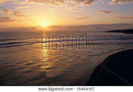 Sunset On Saint Gilles Beach, La Reunion Island