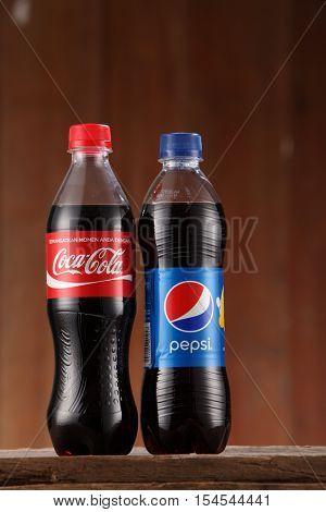 Kuala Lumpur, Malaysia 31th Oct 2016,coca cola  and pepsi cola