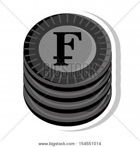 franco coin isolated icon vector illustration design