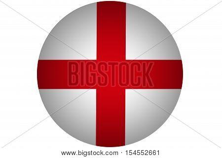 3D England flag ,Original and simple Republic of The England flag.Nation flag