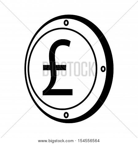 pound sterling coin isolated icon vector illustration design